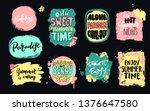 set of universal hand drawn... | Shutterstock .eps vector #1376647580