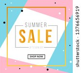 summer sale banner template... | Shutterstock .eps vector #1376656919