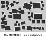 set of square vector photo... | Shutterstock .eps vector #1376663006