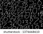Numbers Set. Infinite Random...