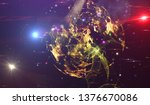 abstract colored background....   Shutterstock . vector #1376670086