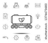 plant fuel train icon. simple...