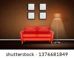 interior of living room and... | Shutterstock .eps vector #1376681849