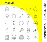 fashion hand drawn icons set...