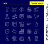 mix hand drawn icons set for...