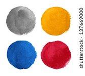 beautiful watercolor design... | Shutterstock .eps vector #137669000