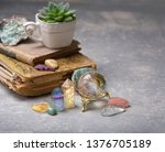 beautiful gemstones minerals... | Shutterstock . vector #1376705189