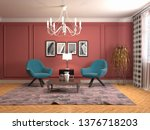 interior with chair. 3d... | Shutterstock . vector #1376718203