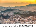 panoramic view of athens at... | Shutterstock . vector #1376720699