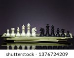both white and black chess face ... | Shutterstock . vector #1376724209