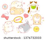 collection of stickers with... | Shutterstock .eps vector #1376732033