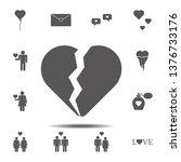 broken heart icon. simple glyph ...
