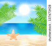 vector summer background... | Shutterstock .eps vector #137673428