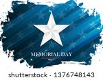 usa memorial day celebrate... | Shutterstock .eps vector #1376748143