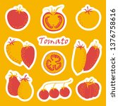 a set of stickers of different... | Shutterstock .eps vector #1376758616