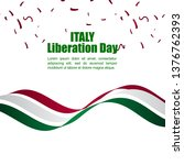 italy liberation day vector... | Shutterstock .eps vector #1376762393