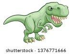 a t rex tyrannosaurus dinosaur... | Shutterstock .eps vector #1376771666