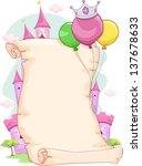 illustration of a blank pink... | Shutterstock .eps vector #137678633