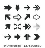 set of black arrow icons 04