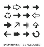 set of black arrow icons 01 | Shutterstock .eps vector #1376800583