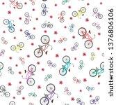 multicolor flat vector bicycle... | Shutterstock .eps vector #1376806106