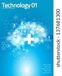 medical graphics in blue... | Shutterstock .eps vector #137681300