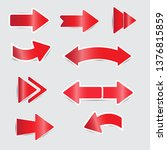 red arrow stickers with shadow | Shutterstock .eps vector #1376815859