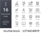 education line icons. set of... | Shutterstock .eps vector #1376818859