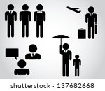 silhouettes of businessman | Shutterstock .eps vector #137682668