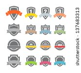 collection of labels. template... | Shutterstock .eps vector #137683313