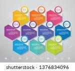10 steps simple editable...   Shutterstock .eps vector #1376834096