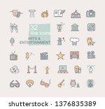 art and entertainment. set of... | Shutterstock .eps vector #1376835389