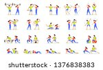 woman and man doing various... | Shutterstock .eps vector #1376838383