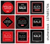 mega collection of black friday ... | Shutterstock .eps vector #1376851706