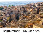 panoramic view of siena from... | Shutterstock . vector #1376855726