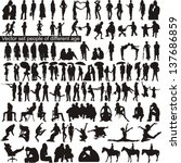 vector set people of different...   Shutterstock .eps vector #137686859