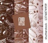 cafe menu vector seamless... | Shutterstock .eps vector #1376874959