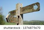 a wooden public footpath ... | Shutterstock . vector #1376875670