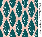 seamless repeating pattern with ... | Shutterstock .eps vector #1376889269