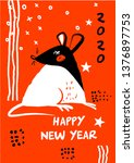 template image for happy new... | Shutterstock .eps vector #1376897753