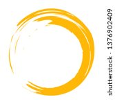 circle brush stroke vector... | Shutterstock .eps vector #1376902409