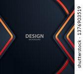 black background light with... | Shutterstock .eps vector #1376903519