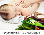 spa massage with aromathrepy.... | Shutterstock . vector #1376903876