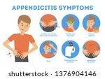 appendicitis symptoms... | Shutterstock .eps vector #1376904146