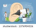 doctore make ear examination... | Shutterstock .eps vector #1376904326