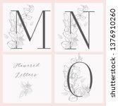 vector hand drawn flowered...   Shutterstock .eps vector #1376910260