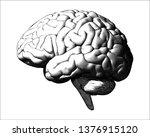 monochrome vintage engraving... | Shutterstock .eps vector #1376915120