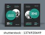 corporate book cover design...   Shutterstock .eps vector #1376920649