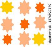 colorful sunburst shapes vector    Shutterstock .eps vector #1376927570