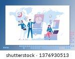 leadership. business lading... | Shutterstock .eps vector #1376930513